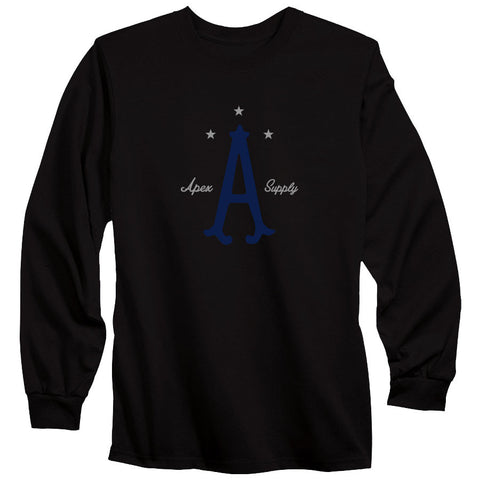 Apex Parliament Long Sleeve - NvyGry on Blk