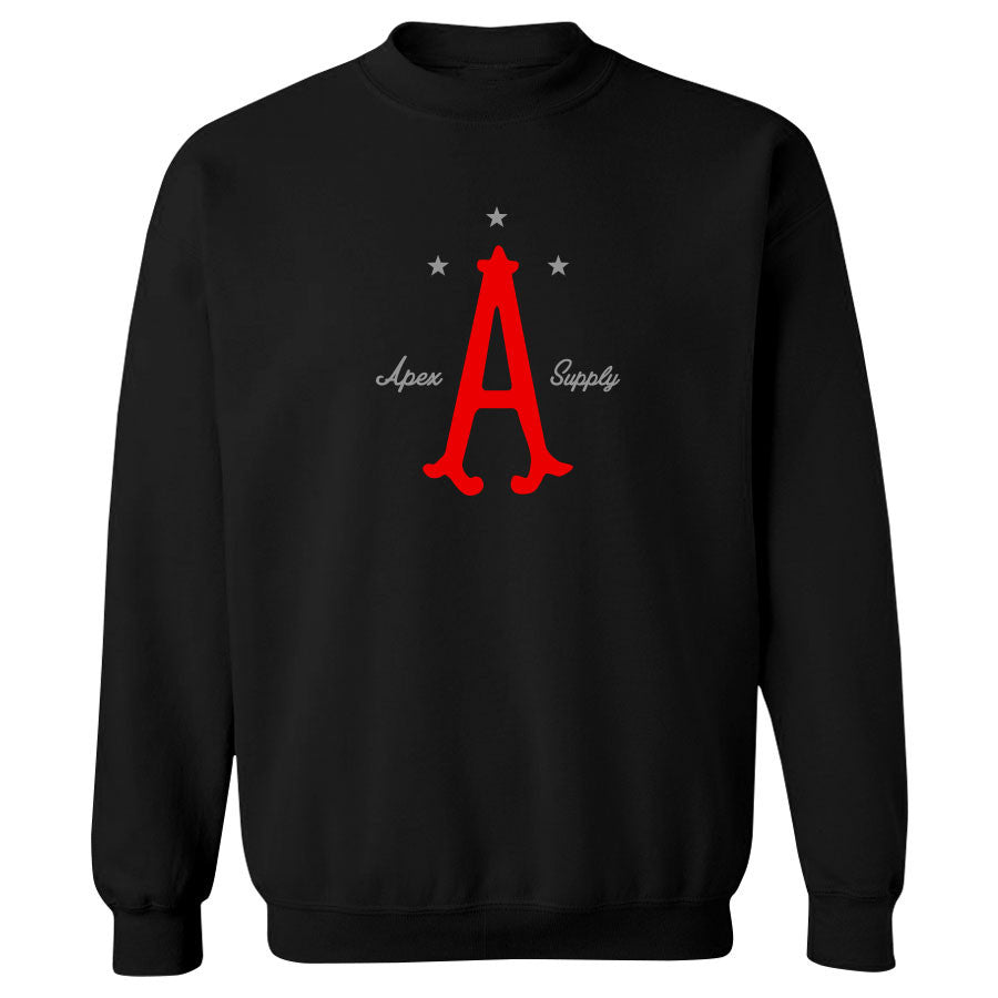 Apex Parliament Crewneck - RedGry on Blk