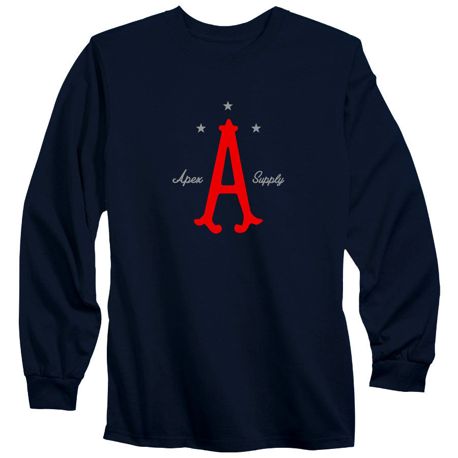 Apex Parliament Long Sleeve - RedGry on Nvy