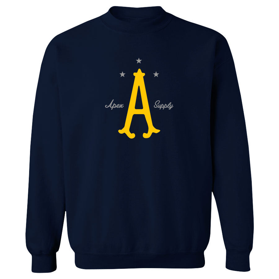 Apex Parliament Crewneck - YelGry on Nvy