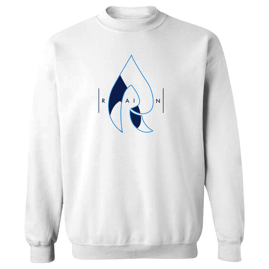 Rain Decay Crewneck - NBluNvy on Wht