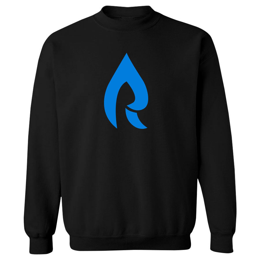Rain Icon Crewneck - NBlu on Blk