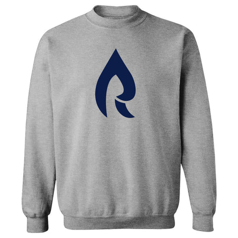 Rain Icon Crewneck - Nvy on SprtGry