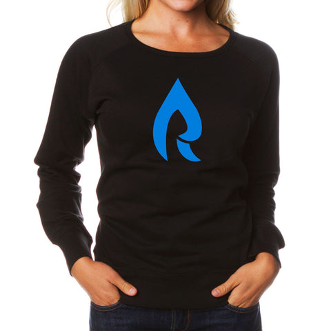 Rain Girls Icon Crewneck - NBlu on Blk