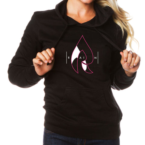 Rain Girls Decay Hoodie - NPnkWht on Blk