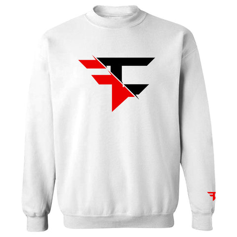 5050 Crewneck - RedBlk on Wht