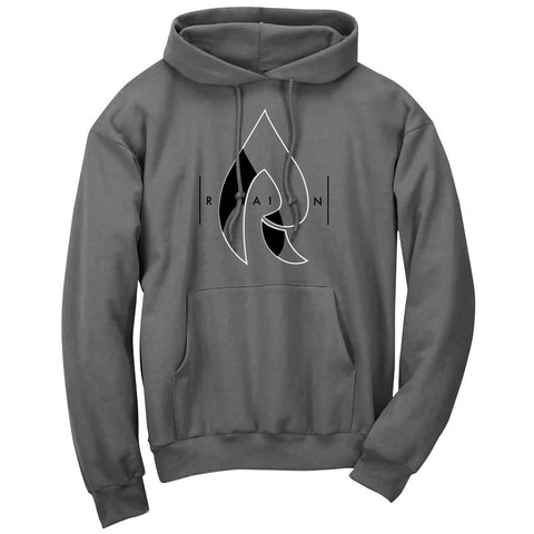 Rain Decay Hoodie - WhtBlk on Chcl