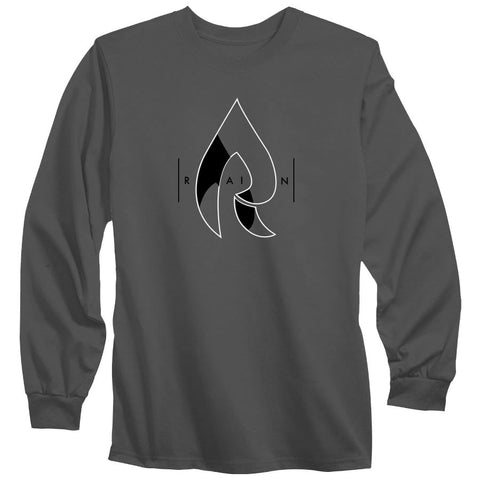 Rain Decay Long Sleeve - WhtBlk on Chcl