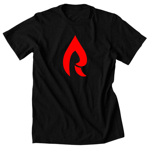 Rain Icon Short Sleeve - Red on Blk