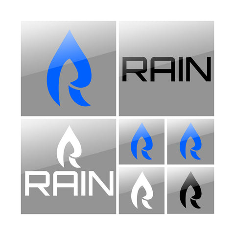 Rain Vinyl Sticker Pack - Assortment