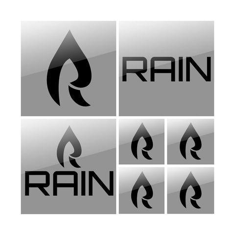 Rain Vinyl Sticker Pack - Blk