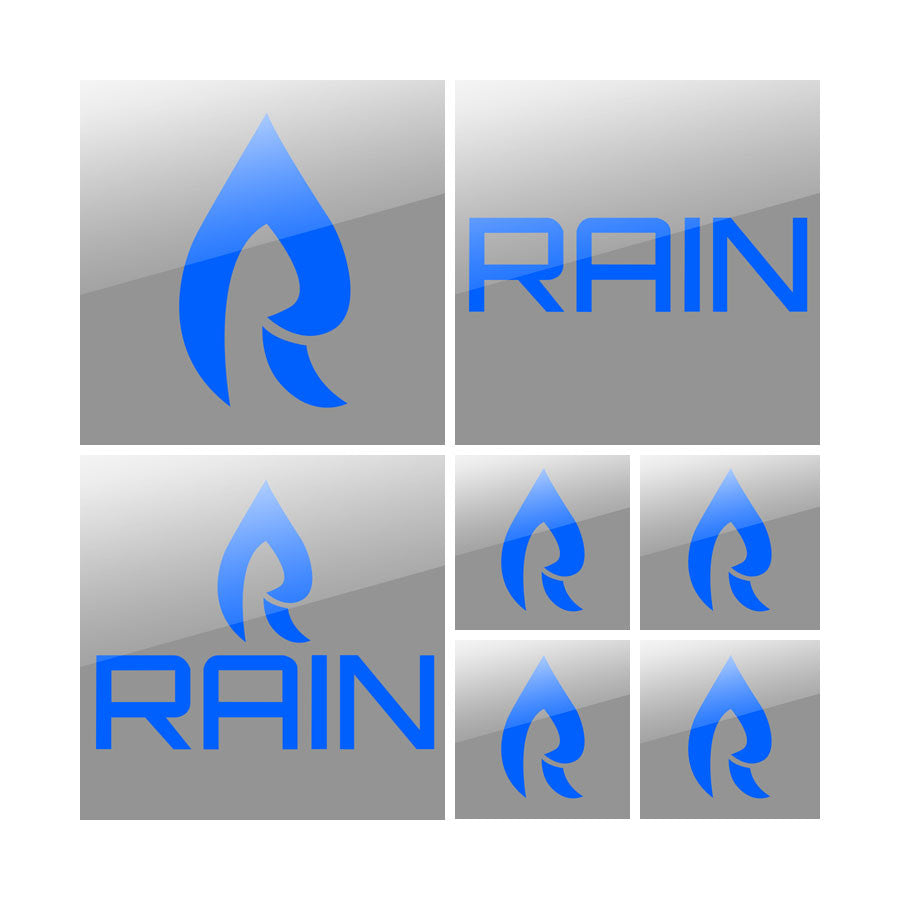 Rain Vinyl Sticker Pack - Blu