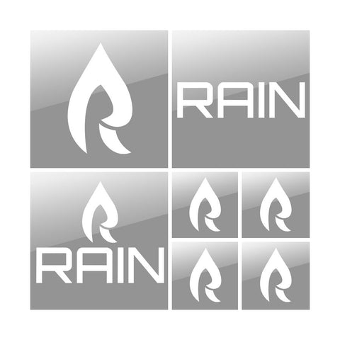 Rain Vinyl Sticker Pack - Wht