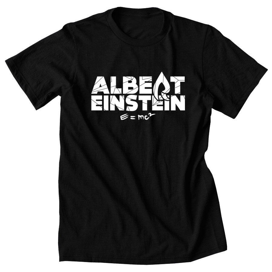 Rain Einstein Short Sleeve - Wht on Blk