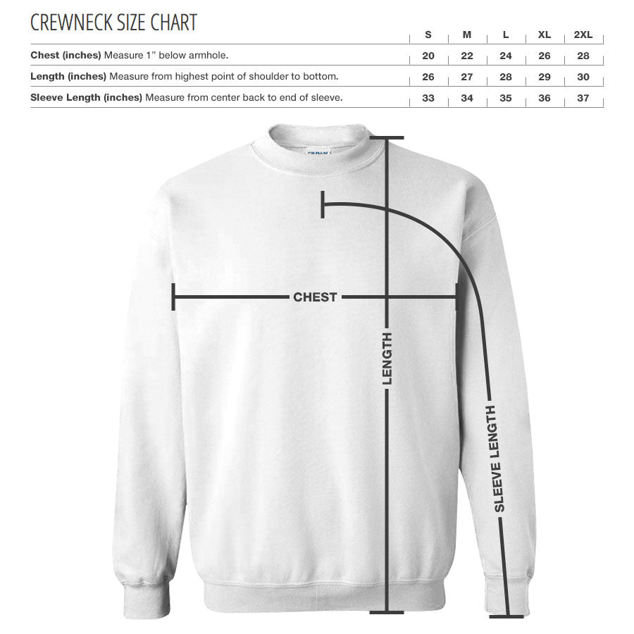 Iconic Crewneck - White on Charcoal
