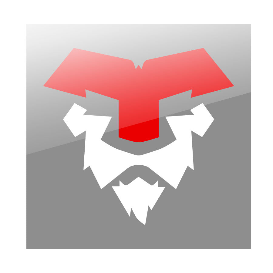 "Temperrr Lion 7"" Vinyl Sticker - RedWht"
