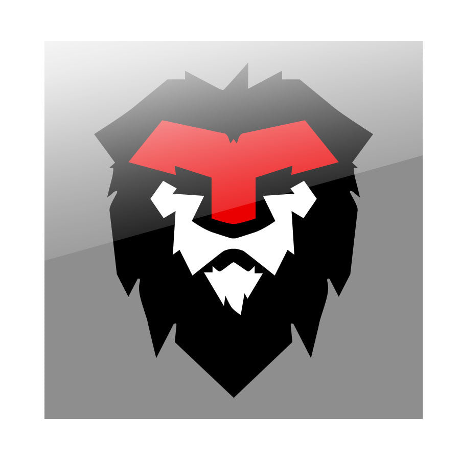 "Temperrr Mane 24"" Wall Decal - RedWhtBlk"