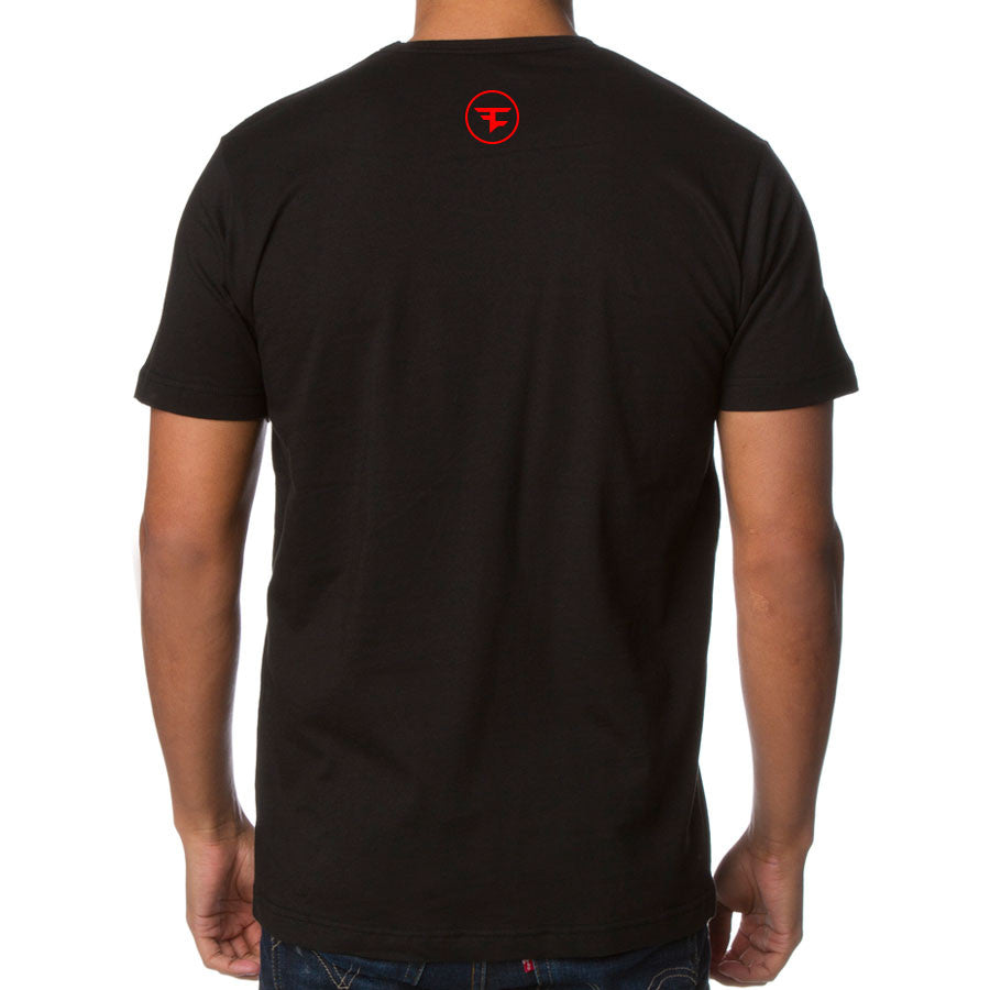 Temperrr Lion Short Sleeve - RedWht on Blk