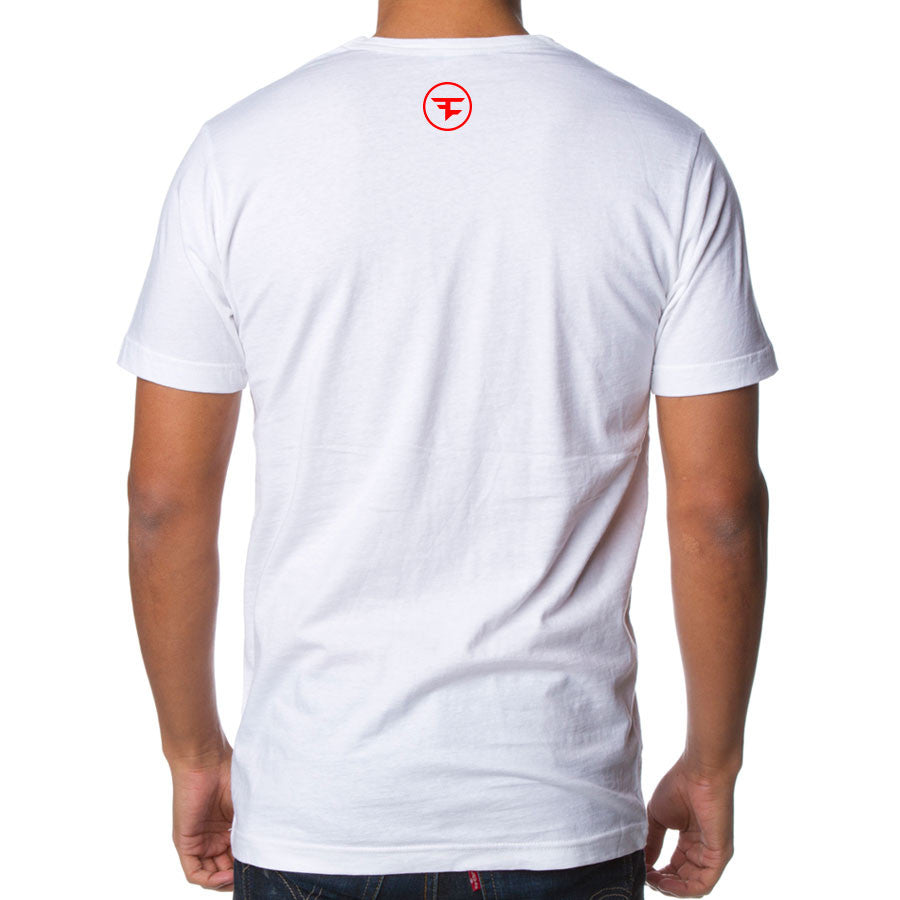 Temperrr Mane Short Sleeve - Red on Wht