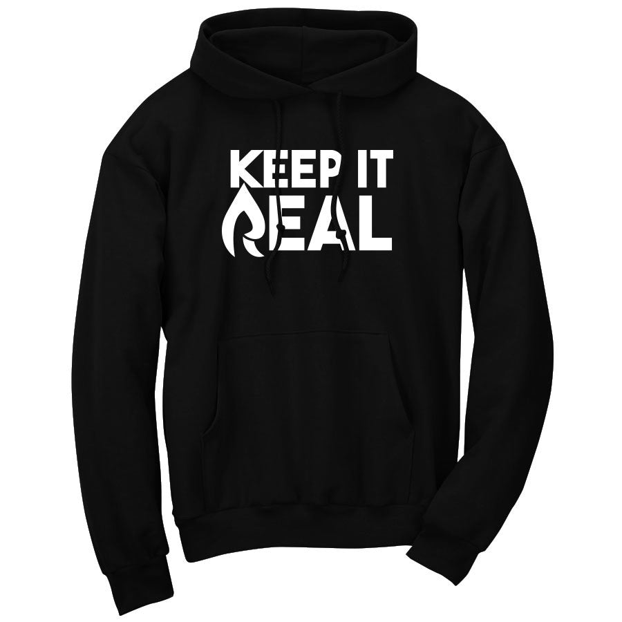 Rain Keep It Real Hoodie - Wht on Blk