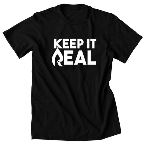 Rain Keep It Real Short Sleeve - Wht on Blk