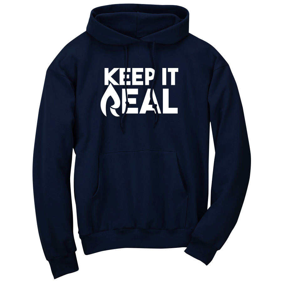 Rain Keep It Real Hoodie - Wht on Nvy