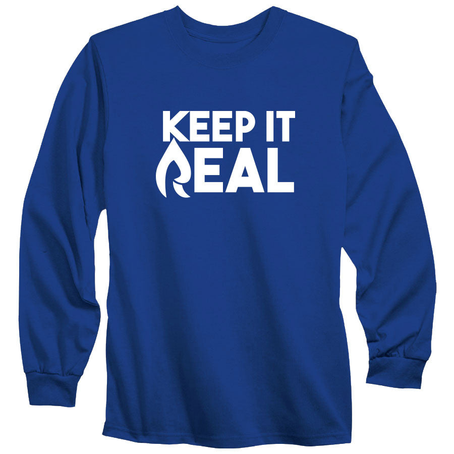 Rain Keep It Real Long Sleeve - Wht on Ryl