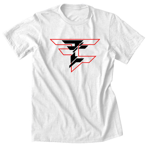 CutUp Tee - RedBlk on Wht