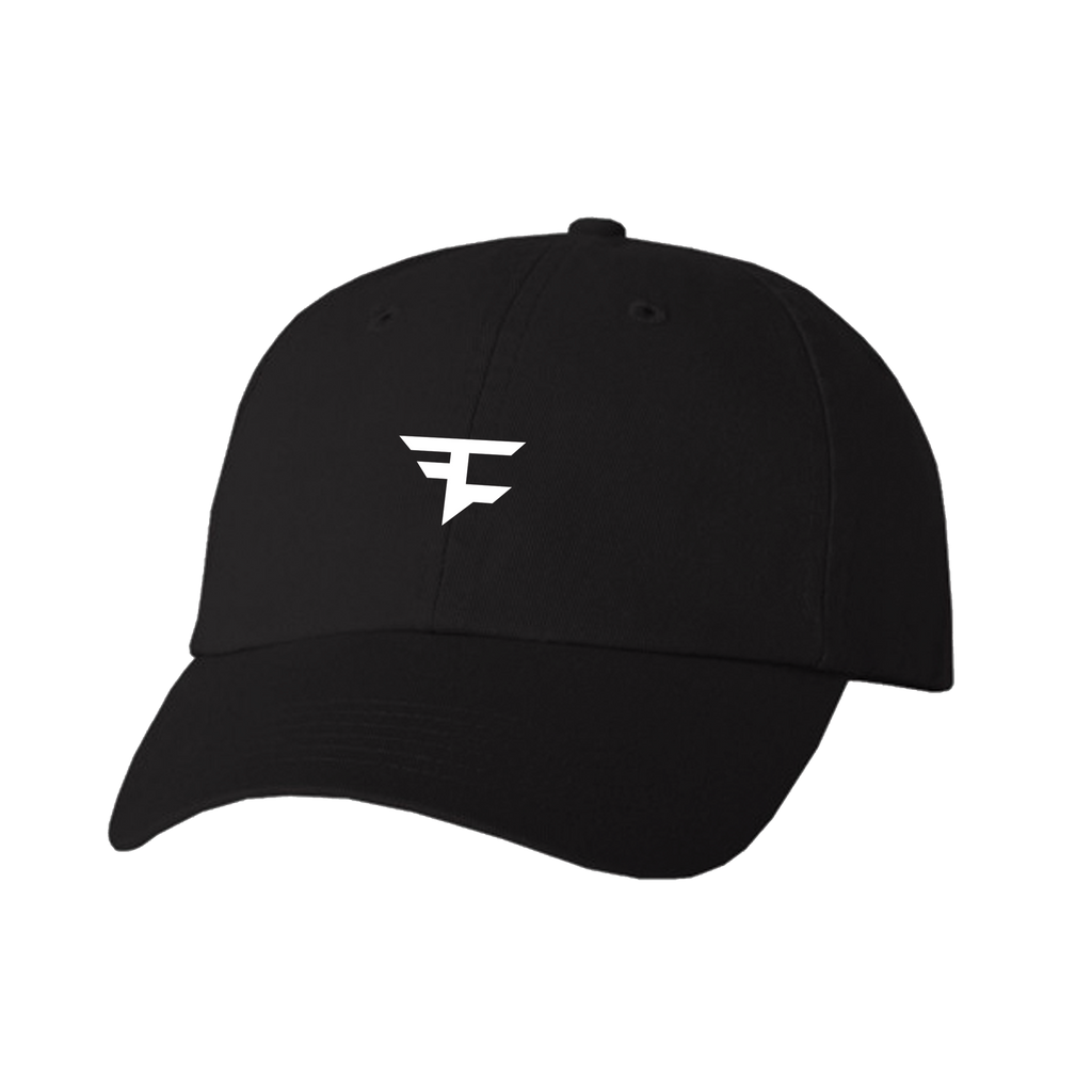 Dad Hat - Wht on Blk