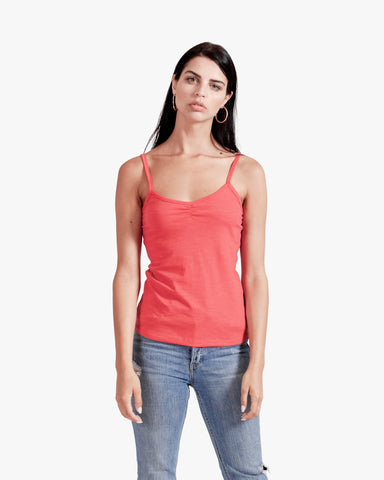 Ballet cami - cotton cami, cotton tank top, red tank top, womens tank top,