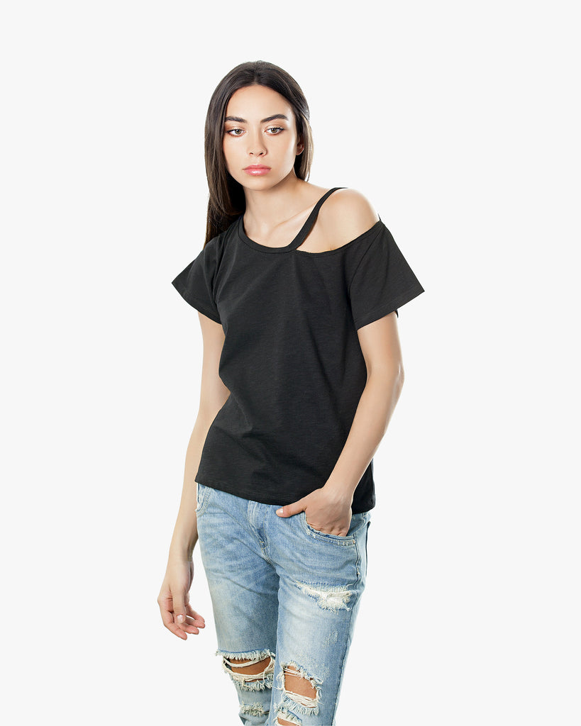 Bella Tee - beautiful tops black off shoulder cold shoulder tops crop tops off shoulder tops off the shoulder tops one shoulder shirt one shoulder tops tops for women tube tops wholesale clothing