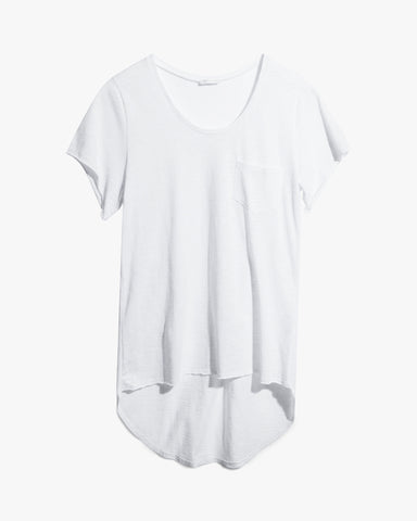 Coby Tee - asymmetrical tee black cotton edgy hi-low hem oversized tee premium summer t-shirt tee white