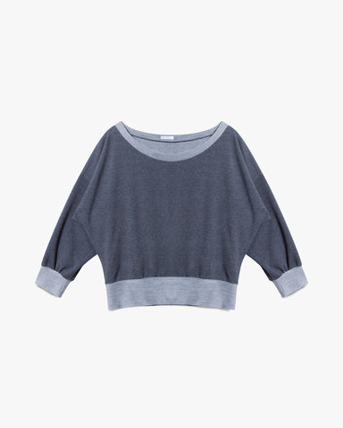 Alexa Sweatshirt - black grey sweater top