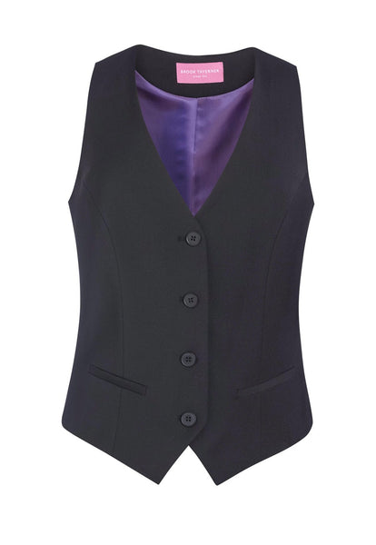 Brook Taverner Charcoal Grey Scapoli Ladies Waistcoat