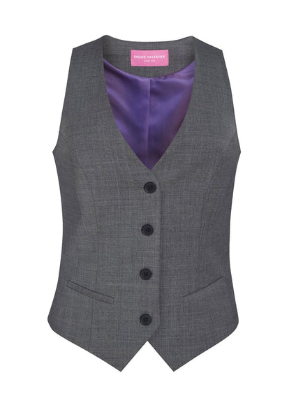 Brook Taverner Light Grey Scapoli Ladies Waistcoat
