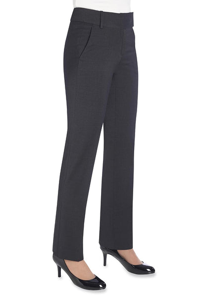 Brook Taverner Charcoal Grey Genoa Tailored Leg Trousers