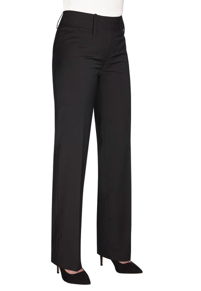 Brook Taverner Black Miranda Parallel Leg Trouser