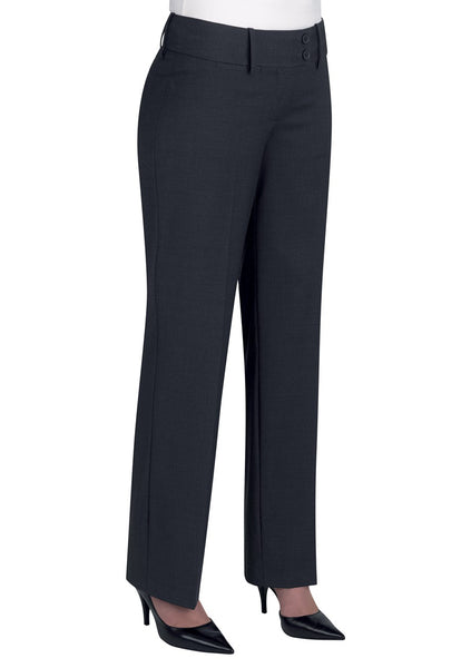 Brook Taverner Charcoal Grey Miranda Parallel Leg Trouser