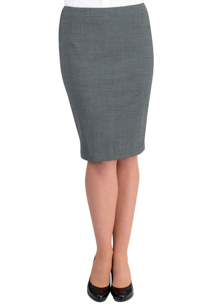 Brook Taverner Light Grey Numana Straight Skirt