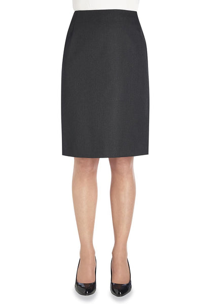 Brook Taverner Charcoal Grey Sigma Straight Skirt