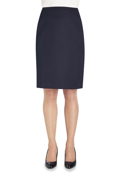 Brook Taverner Navy Blue Sigma Straight Skirt