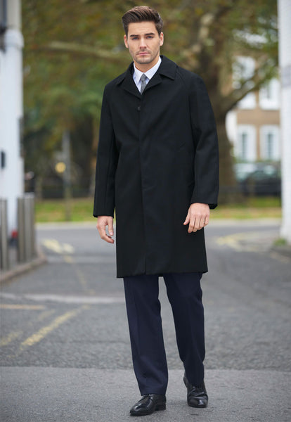 Whipcord Coat Black