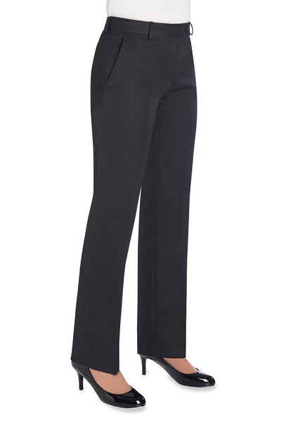 Brook Taverner Aura Charcoal Grey Straight Leg Trouser