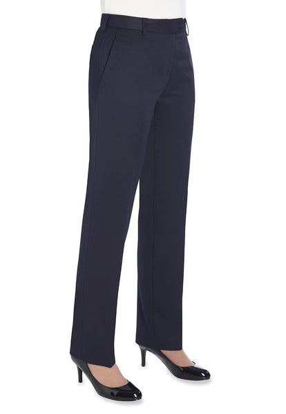 Brook Taverner Aura Navy Blue Straight Leg Trouser