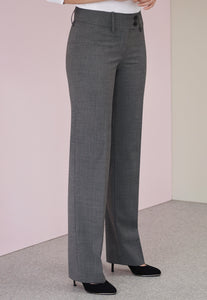 Brook Taverner Light Grey Miranda Parallel Leg Trouser