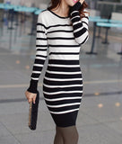 Clarissa Striped Sweater Dress