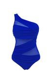 Kali Blue One Shoulder Swimsuit