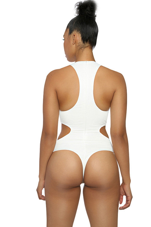 White Pacific Cutout One Piece Swimsuit