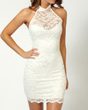 Lipsy Lacey Halter Dress