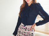 Chiffon Navy Blue Top